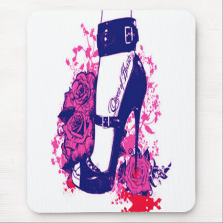 Beautiful Queen of hearts tattooed foot Mouse Pad