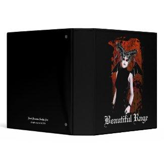 Beautiful Rage Gothic Vampire Art Binder binder