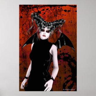 Beautiful Rage Gothic Vampire Art Poster