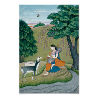 Beautiful Ragini Todi Painting Print