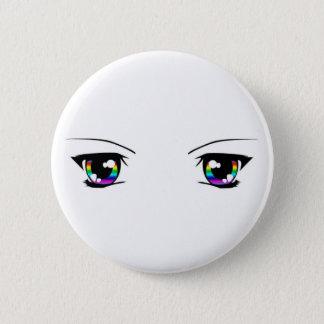 "Beautiful Rainbow ""anime eyes"" badge Button"