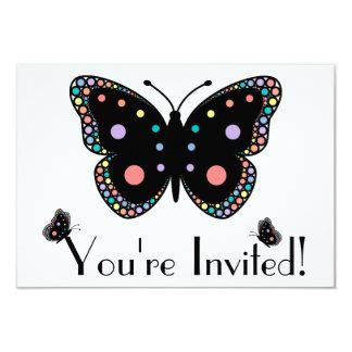 Beautiful Rainbow Butterflies 3.5x5 Paper Invitation Card
