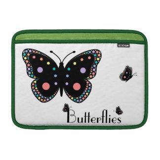 Beautiful Rainbow Butterflies MacBook Sleeves