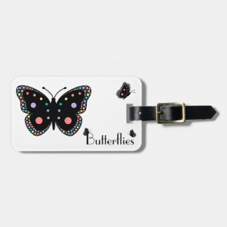 Beautiful Rainbow Butterflies Tags For Bags