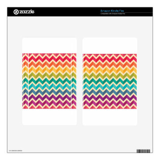 Beautiful Rainbow Chevron Kindle Fire Decal