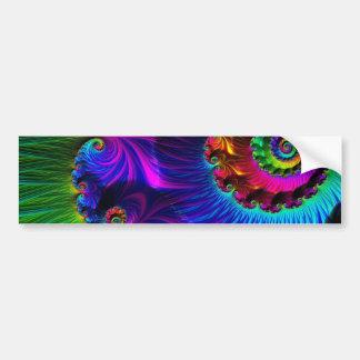 Beautiful Rainbow Fractal Car Bumper Sticker