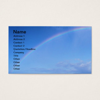 Beautiful Rainbow in Hawaii over the Pacific Ocean Business Card