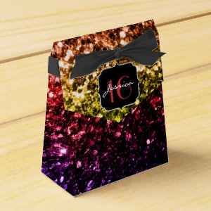 Beautiful Rainbow sparkles  favor box