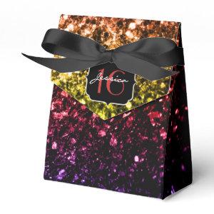 Beautiful Rainbow sparkles  favor box