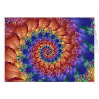 Beautiful Rainbow Spiral Greeting Card