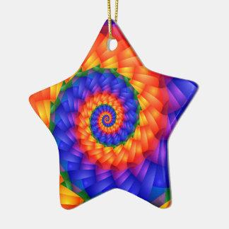 Beautiful Rainbow Spiral Ornament