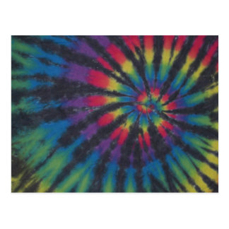 Beautiful Rainbow Swirl Spiral Tie Dye PhatDyes Postcard