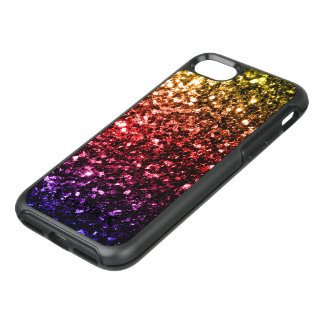 Beautiful Rainbow yellow red purple sparkles OtterBox Symmetry iPhone 8/7 Case