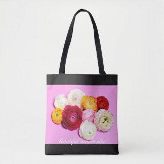 Beautiful ranunculus tote bag