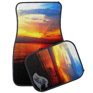 Beautiful Real Sunset Photography Floor Mats