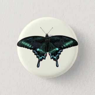 Beautiful realistic butterfly button