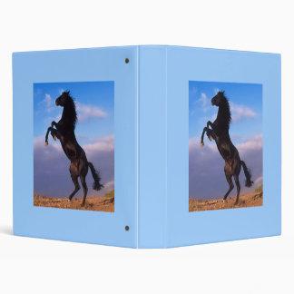 Beautiful rearing black horse photo album 3 ring binders