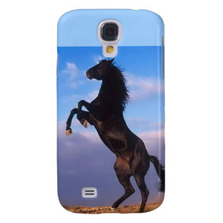 Beautiful rearing black horse with blue sky photo galaxy s4 case