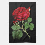 Beautiful Red Abstract Texture Rose Towels