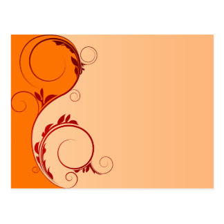 Beautiful Red and orange floral peach Postcard