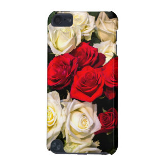 Beautiful red and white roses iPod touch (5th generation) cover