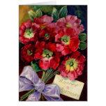 Beautiful Red Birthday Flowers Card