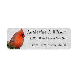 Beautiful Red Cardinal Personal Mailing Labels