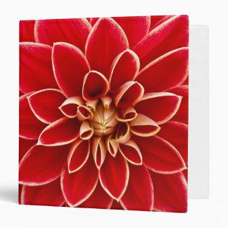 Beautiful red dahlia binder