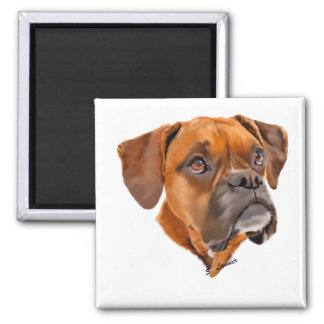 Beautiful Red Fawn Boxer Dog Magnet
