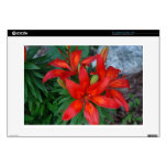 Beautiful Red Flower Decal For Laptop