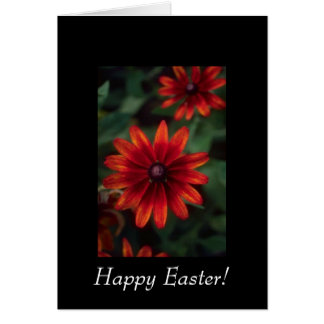 Beautiful Red Flowers Card