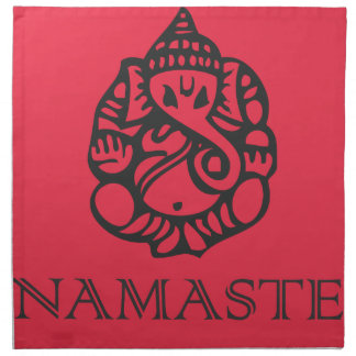 Beautiful Red Ganesh Design Napkin