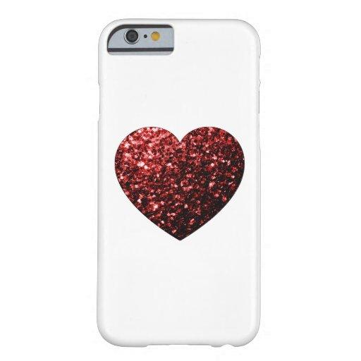 Beautiful Red Glitter sparkles Heart iPhone 6 case : Zazzle