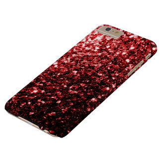 Beautiful Red Glitter sparkles iPhone 6 Plus case