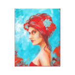 Beautiful Red Head Mixed Media Gallery Wrapped Canvas