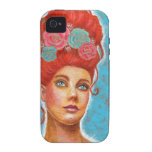 Beautiful Red Head Mixed Media iPhone 4 Cover