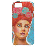 Beautiful Red Head Mixed Media iPhone 5 Cover