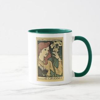 Beautiful red headed woman vintage expo mug