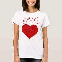 Beautiful Red Heart Valentine's Day T-Shirt