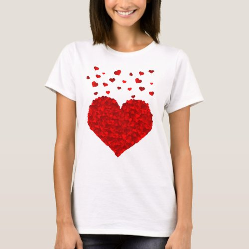 Beautiful Red Heart Valentines Day T_Shirt