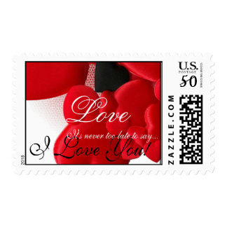 Beautiful Red Hearts Love 3med Postage