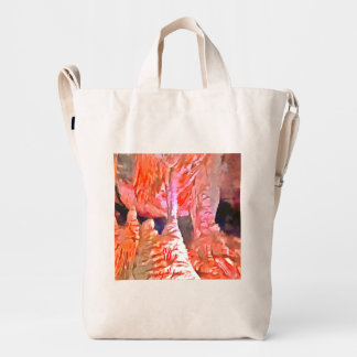 Beautiful red in a cave duck bag