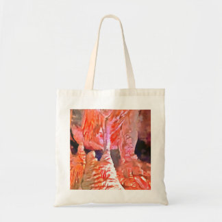 Beautiful red in a cave tote bag