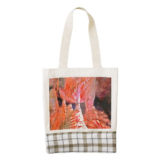 Beautiful red in a cave zazzle HEART tote bag