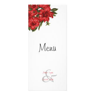 Beautiful Red Lilies -  Menu