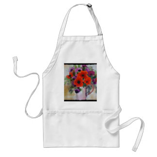 Beautiful Red Poppies Adult Apron