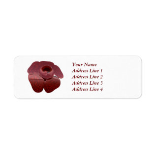 Beautiful Red Rafflesia Flower  On Gift Name Tag at Zazzle