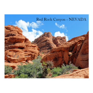 Beautiful Red Rock Canyon Postcard! Postcard