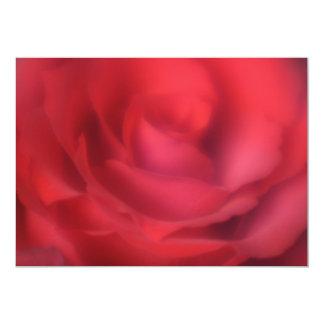 "Beautiful Red Rose Invitation 5"" X 7"" Invitation Card"