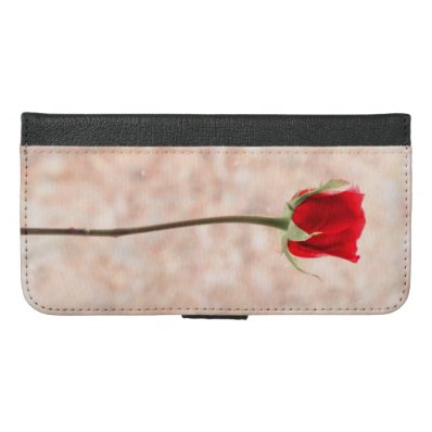 Beautiful Red Rose iPhone 6/6S Plus Wallet Case